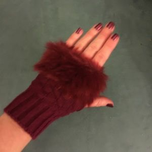 Accessories - Wine Red Wrist Warmers CLEARANCE 2/$9
